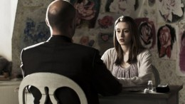 Mark Strong and Taissa Farmiga in Mindscape