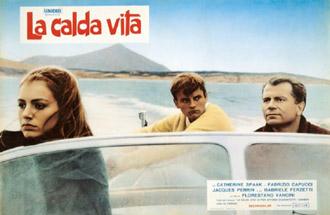 Catherine Spaak, Jacques Perrin & Gabriele Ferzetti in La calda vita