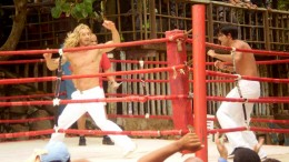 Kickboxing action from Eleonora Albrecht in Caribbean Basterds