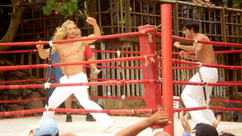 Kickboxing action from Eleonora Albrecht in Caribbean Basterds