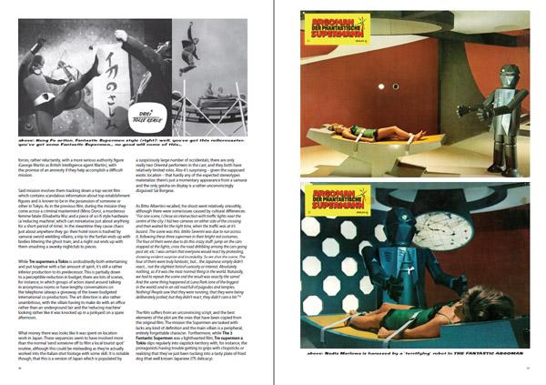 Fantastikal Diabolikal Supermen example page spread