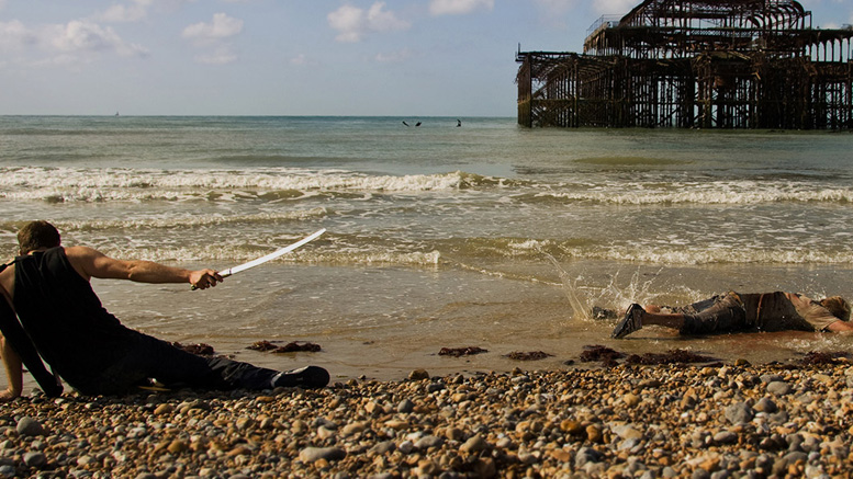 A quieter than usual day on Brighton beach then... Darkest Day