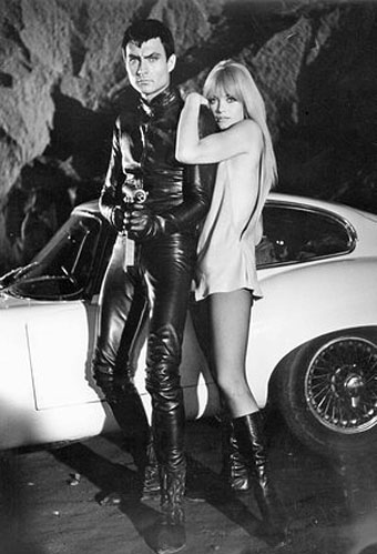 John Philip Law and Marisa Mell in Diabolik