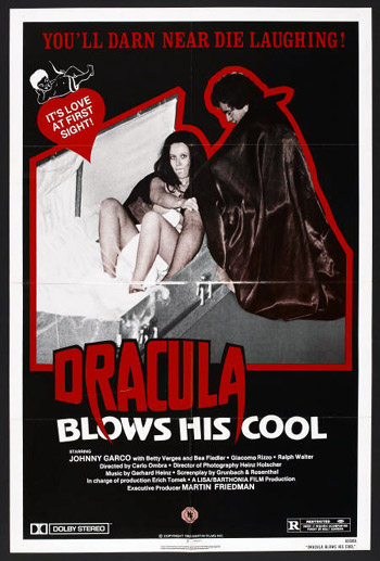 High quality US poster for Dracula Blows His Cool
