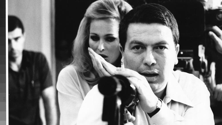 Elio Petri, with Ursula Andress on the set of The Tenth Victim