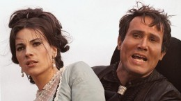 Nicoletta Machiavelli and Henry Silva in The Hills Run Red