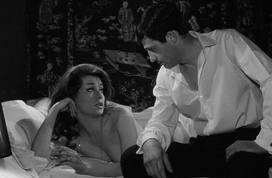 Fabienne Dali and Jean-Paul Belmondo in Le doulos