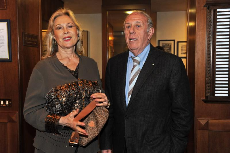 Luciano Martino, with Olga Bisero