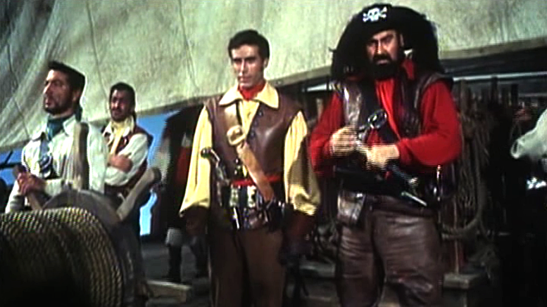 George Hilton and Giovanni Vari shiver their timbers in The Masked Man Against the Pirates
