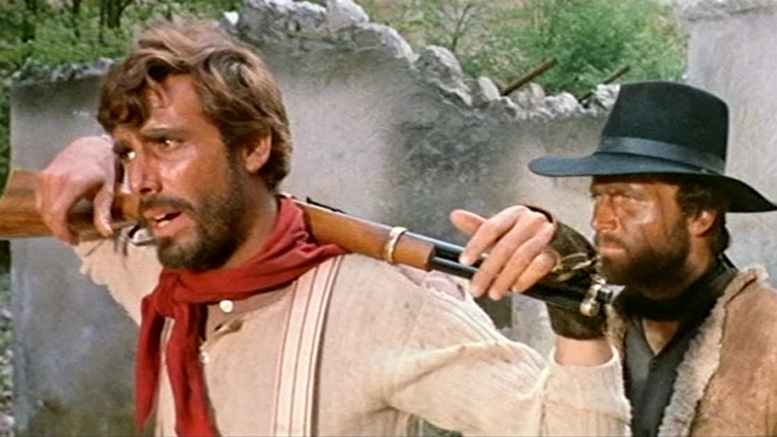 George Hilton and Franco Nero in Massacre Time