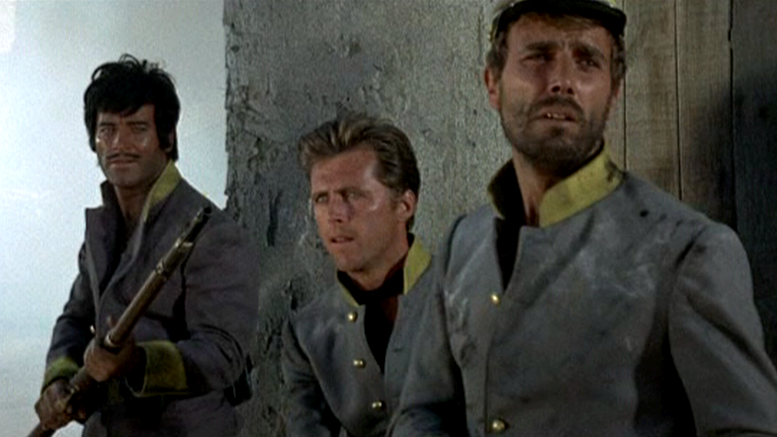 George Martin, Edd Byrnes and George Hilton in Red Blood Yellow Gold