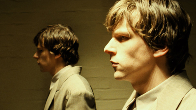 Jesse Eisenberg and, err, Jesse Eisenberg in The Double